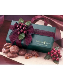 Green Gift Box with Pecan Turtles (GN123) - Gift Boxes  - Promotional Food Gifts | Printez.com
