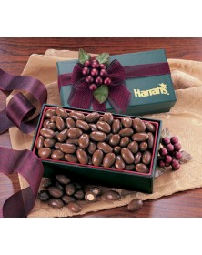 Green Gift Box with Milk Chocolate Covered Almonds  (GN124) - Gift Boxes  - Promotional Food Gifts | Printez.com