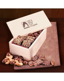 Wooden Collector's Box with English Butter Toffee & Milk Chocolate Almonds