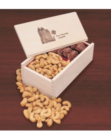 Wooden Collector's Box with Pecan Turtles & Jumbo Cashews