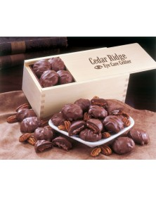 Wooden Collector's Box with Pecan Turtles