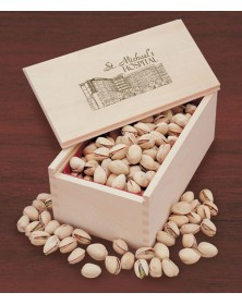Wooden Collector's Box with Jumbo California Pistachios