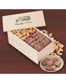 Wooden Collector's Box with English Butter Toffee & Jumbo Cashews
