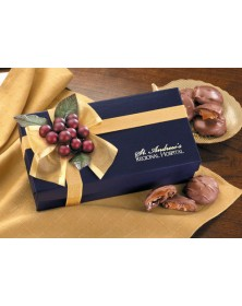 Navy Gift Box with Pecan Turtles  (NV123) - Gift Boxes  - Promotional Food Gifts | Printez.com