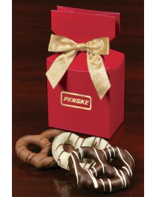 Red Premium Delights with Chocolate Covered Pretzels