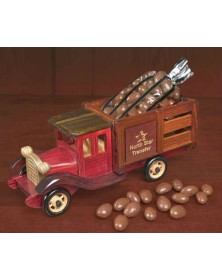 Classic Wooden 1925 Stake Truck with Milk Chocolate Covered Almonds