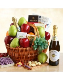 Fresh Fruit Gourmet Picnic Gift Basket by California Delicious