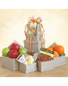 Organic Fruit &Cheese Gift