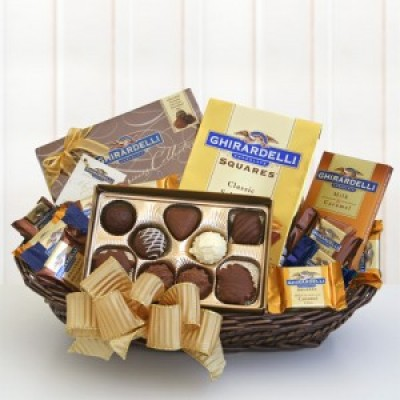 Buy chocolate gift baskets - Ghirardelli Classic Chocolate Gift Basket Holiday Gifts Occasions Food Gifts