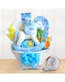 Rocking Baby Boy Newborn Gift Basket