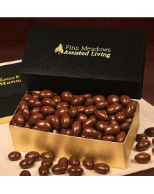 Gold & Black Gift Boxes with Chocolate Covered Almonds