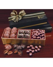 Gold & Black Gift Boxes with Premium Chocolate Trio