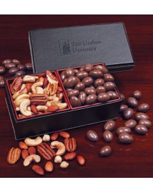 Faux Leather with Chocolate Covered Almonds & Deluxe Mixed Nuts