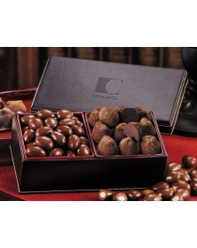 Faux Leather with Cocoa Dusted Truffles & Chocolate Almonds