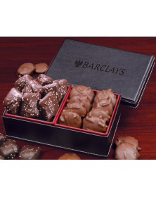 Faux Leather with Chocolate Sea Salt Caramels & Pecan Turtles