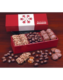 Red Gift Boxes with Snowflake Wrapped Gift Box