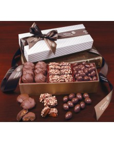 White Pillow-Top Gift Boxes with Chocolate Fantasy