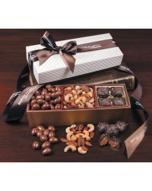 White Pillow-Top Gift Boxes with Tempting Delights