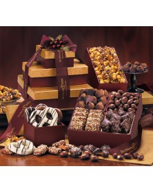 Burgundy Tower of Sweets