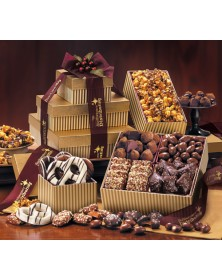Gold Striped Chocolate Towers of Sweets