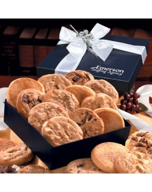 Navy Gift Box With Gourmet Cookie Assortment