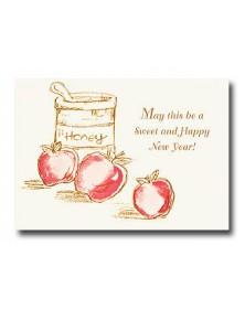 Rosh Hashanah - Honey (YM07E5T-32) - Religious  - Holiday Cards | Printez.com