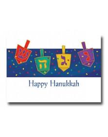 Hanukkah - Four Dreidels (YM07F3H-12) - Religious  - Holiday Cards | Printez.com