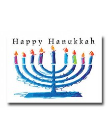 Hanukkah - Menorah  (YM9855F3G-13) - Religious  - Holiday Cards | Printez.com