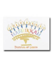 Hanukkah - Festival (YM9855F3I-12) - Religious  - Holiday Cards | Printez.com