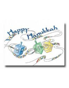 Hanukkah - Dreidel Trio  (YM9855F3J-12) - Religious  - Holiday Cards | Printez.com