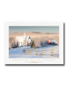 Rural Church Scene (XGM70563-12) - Religious  - Holiday Cards | Printez.com