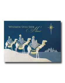 Led by a Star (YMM70332-32) - Religious  - Holiday Cards | Printez.com