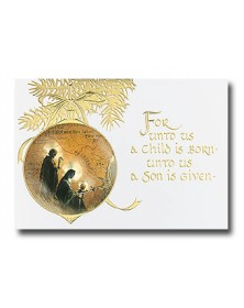Child is Born Ornament (YMNX73848-12) - Religious  - Holiday Cards | Printez.com