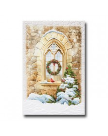 Sanctuary Window  (YMPP798642-55) - Religious  - Holiday Cards | Printez.com