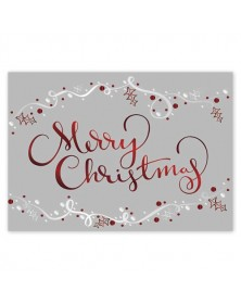 Ruby Red & Tinsel Christmas Cards