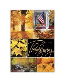 Glowing Gratitude Thanksgiving Cards