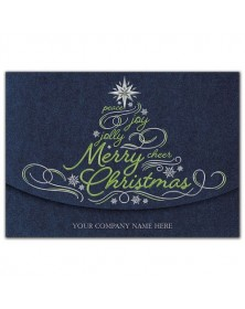 Glistening Green Christmas Cards