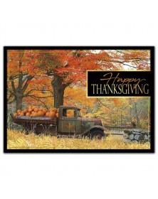Pumpkin Pick-up Thanksgiving Cards