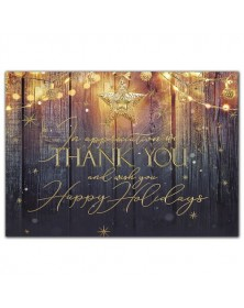 Rustic Glow Holiday Cards