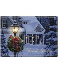 Evening Home Patriotic Holiday Cards