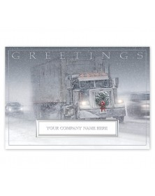 The Road Home Truck Driver Holiday Cards
