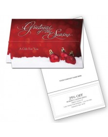 Elegant Ornaments Holiday Coupon Cards