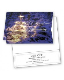 Glow of Appreciation Christmas Coupon Cards