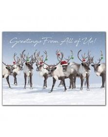 Antler Chandelier Holiday Cards