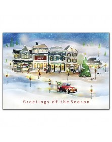 Vintage Village Holiday Cards