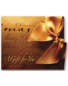 Gift Wrapped Holiday Coupon Cards