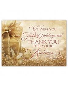 Gold Joy Holiday Cards