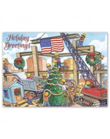 Christmas Crane Contractor & Builder Holiday Cards