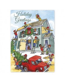 Cheerful Contractors Holiday Cards
