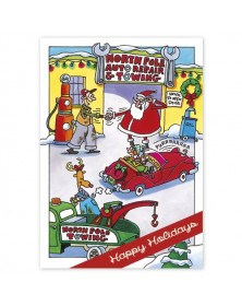 Northpole Repair Automotive Holiday Cards